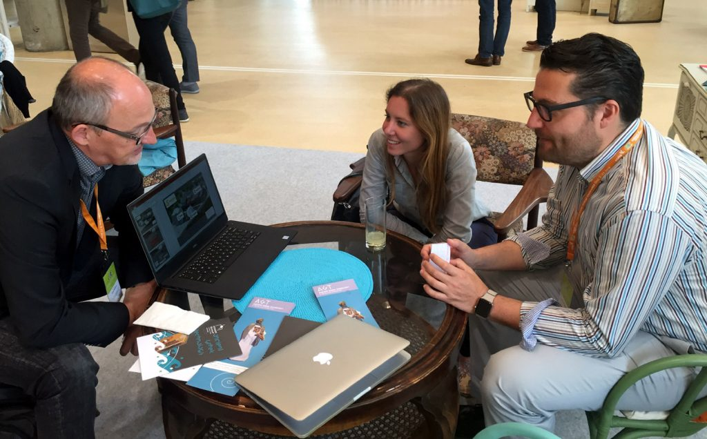 Katarina Vuković and Domingo Escutia at ECSITE 2016, developing plans for the new joint project