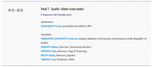 Kopaonik Business Forum 2018, March 04-07, Panel 7:  Gazelle - Hidden crown jewels